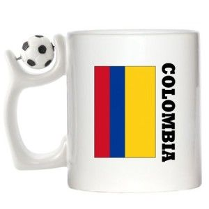 Colombia FLAG Design Spinning Football Mug available at http://www.world-cup-products-worldwide.com/colombia-flag-design-spinning-football-mug/