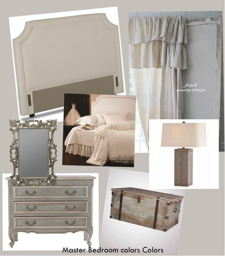 Master bedroom inspiration board created using neutral for Light neutral wall colors