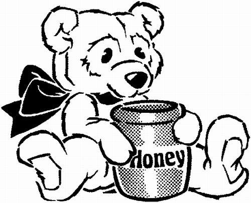 Teddy Eating Honey