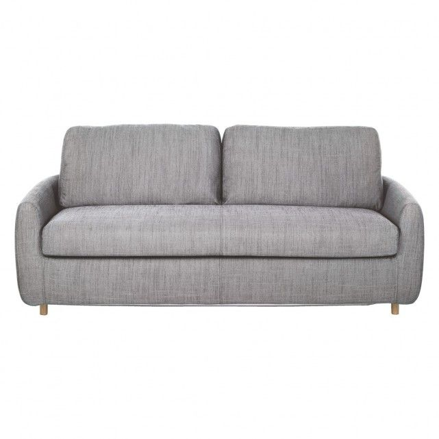 HONOVI Black and white Italian woven 3 seater sofa bed
