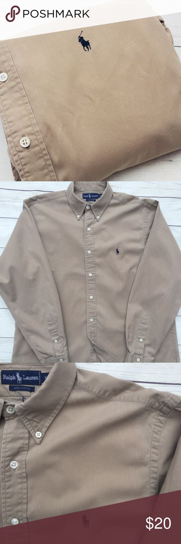 """🐎 🐎SALE 🐎1/$20•2/$35•3/$50•🐎POLO• RALPH• LAUREN•  🇺🇸Military, police & fire men & women receive 10% discount🇺🇸  men's  long sleeve 100% cotton oxford shirt• XL per tag, see measurements below•  Signature pony•  GUC• tiny white spots throughout shirt•  shoulder: 20"""" Chest: 26"""" (armpit-armpit) Sleeve: 36"""" Length: 35""""  🐎CHECK BACK EACH WEEK FOR NEW POLO LISTINGS🐎 Polo by Ralph Lauren Shirts Casual Button Down Shirts"""