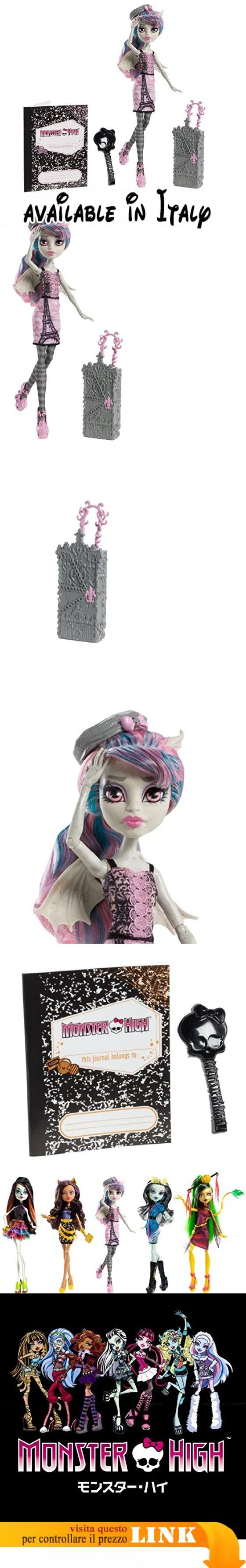 Mattel-Y7672-Monster High Scaris Doll - Rochelle Goyle. <span>The ghouls of Monster High are hitting the skies for their first trip abroad together in monster style</span>. <span>They are freakishly fabulous at home and abroad</span>. <span>Doll is fully articulated so she can be posed in many different ways</span>. <span>Each doll wears a new travel outfit complete with jewelry and comes with a rolling suitcase and travel journal</span> #Giocattolo #TOYS_AND_GAMES