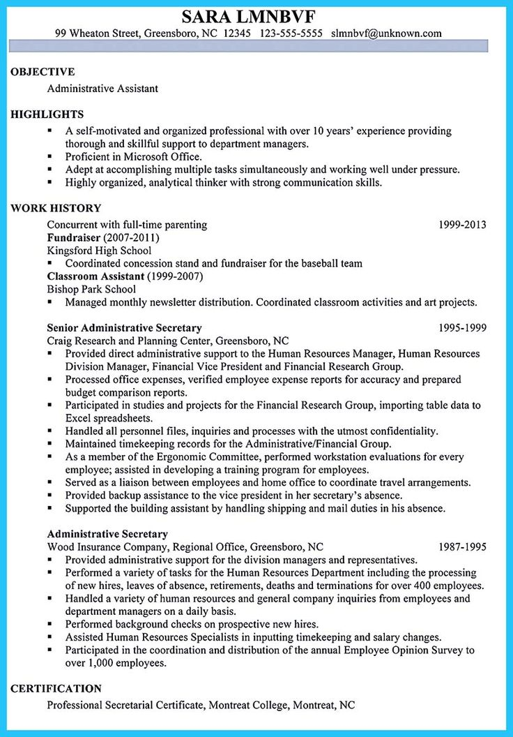 Best 25+ Administrative assistant resume ideas on Pinterest