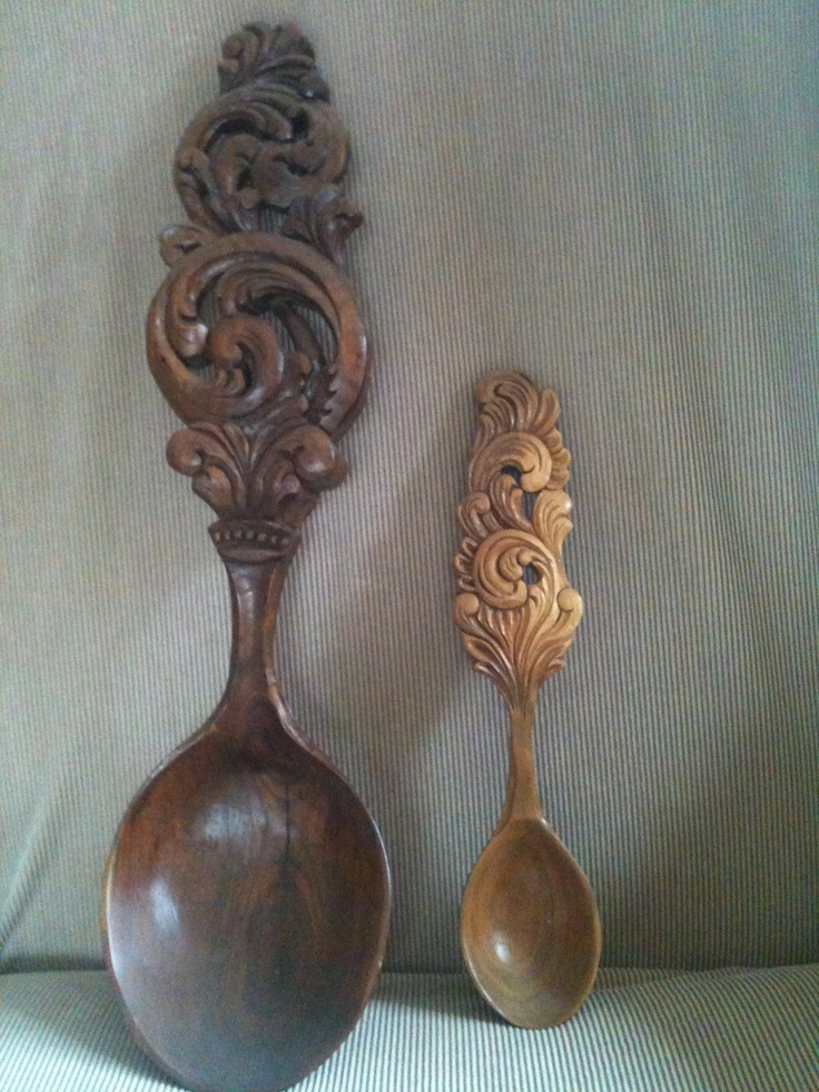 Handcarved wooden spoons, made by Grandpa