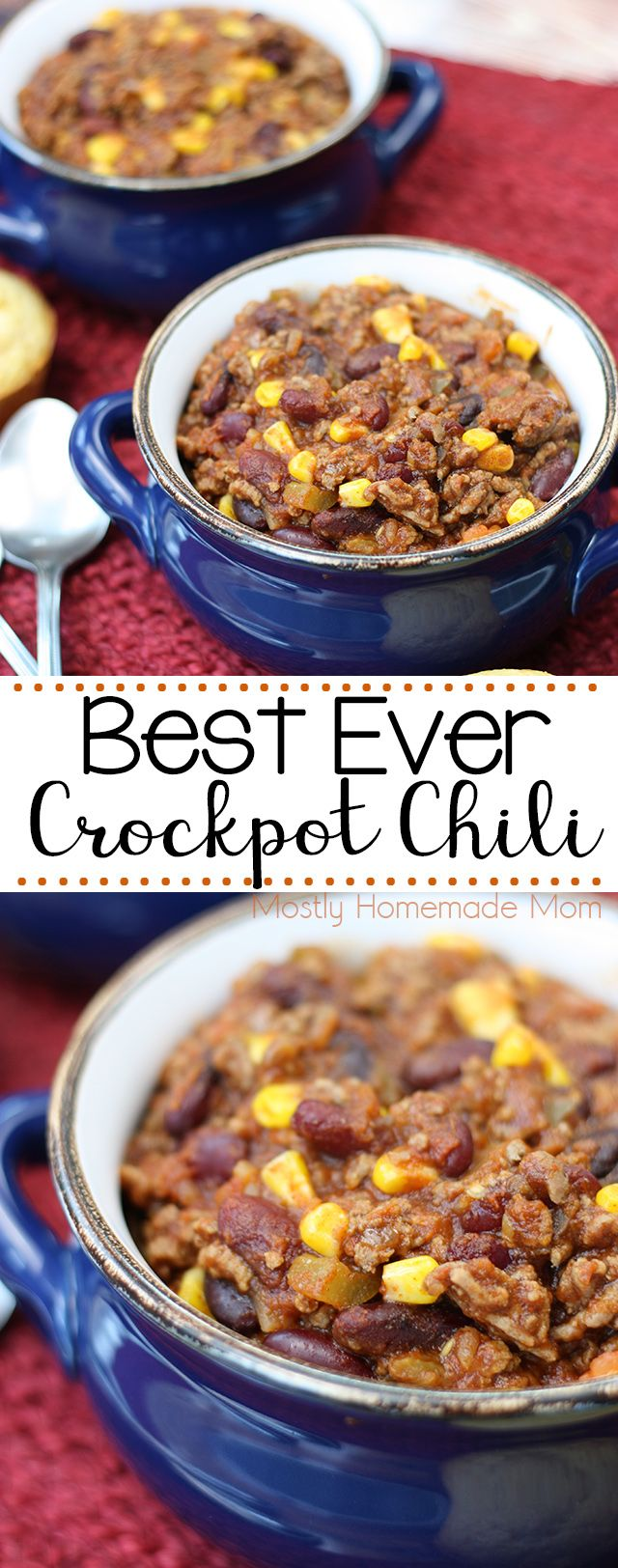Best Crockpot Chili Video Mostly Homemade Mom Recipe Crockpot Chili Crockpot Chili Recipe Crockpot