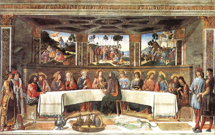 Sistine Chapel Northern Wall - The Last Supper