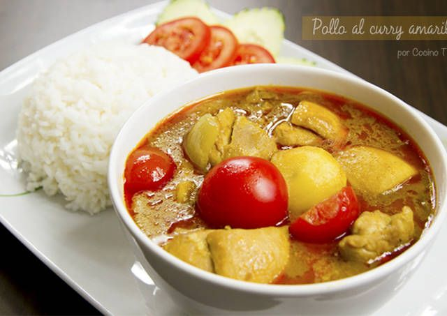 Pollo con curry amarillo