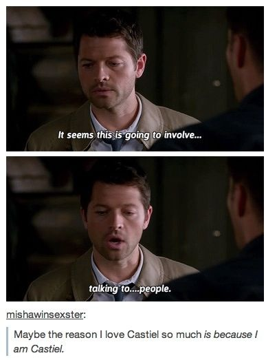 That's thing about Cas. They made him so human, often times more human than Dean & Sam. I'd honestly have trouble watching the show if Cas is COMPLETELY and FINALLY gone for good...somehow...