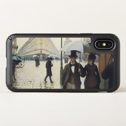 Paris Street Rainy Day Speck iPhone X Case - diy cyo customize create your own #personalize