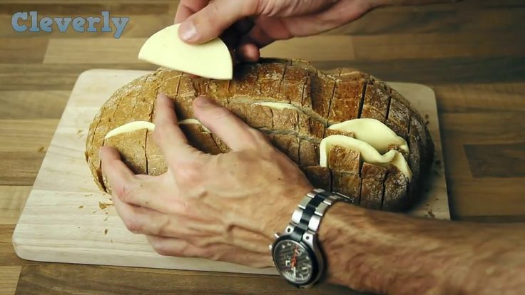 Wrap a bread in tinfoil and bake it in the oven. When you lift the foil ...