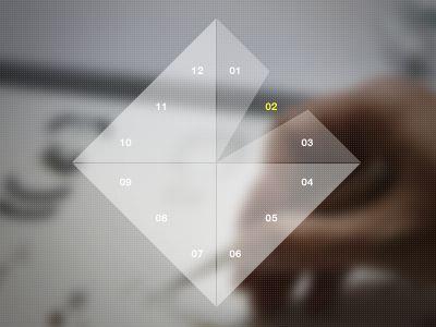Minimalist calendar interface  by Julie Potvin