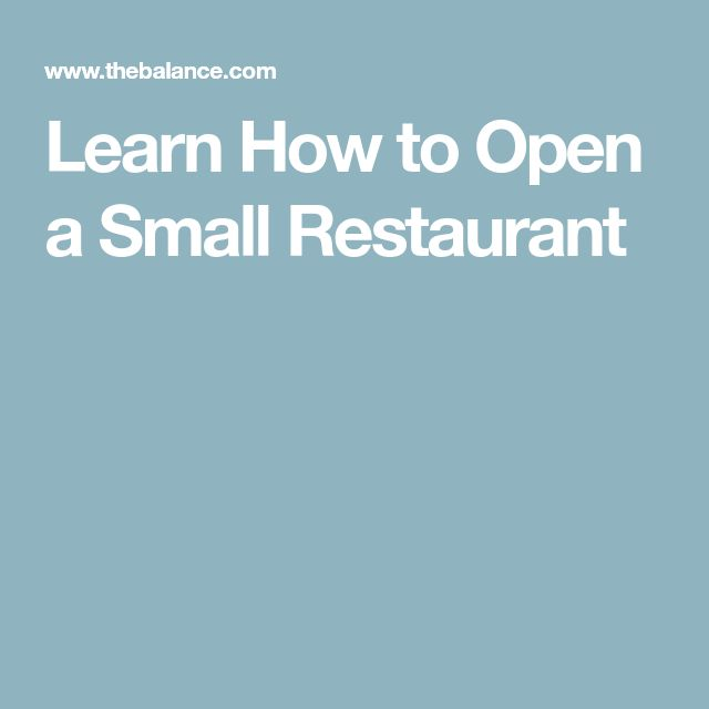 Learn How to Open a Small Restaurant