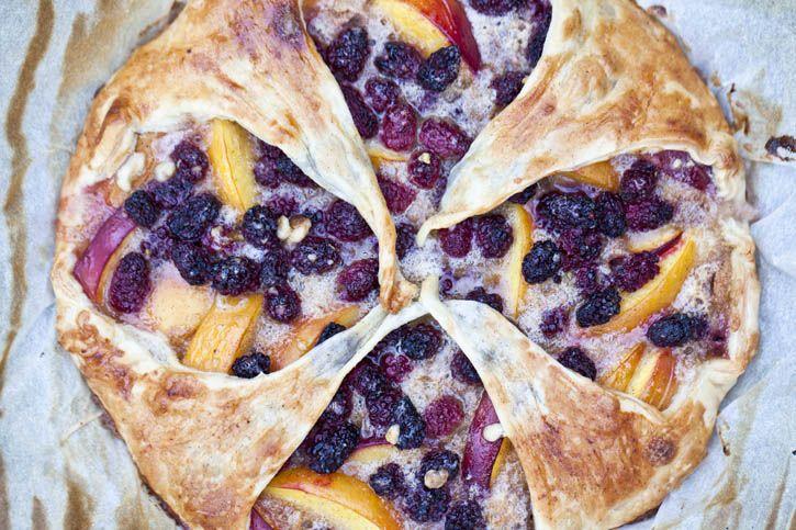 Blackberry Peach Pie   – Desserts