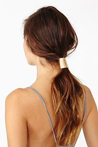 15 So-Chic Hair Accessories To Dress Up Your 'Do #refinery29  http://www.refinery29.com/51762#slide13  Nasty Gal Capsule Ponytail Clip, $18, available at Nasty Gal.