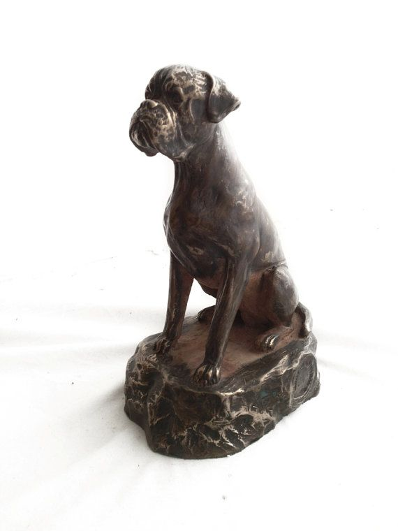 Boxer dog statue limited edition ArtDog by ArtDogshopcenter