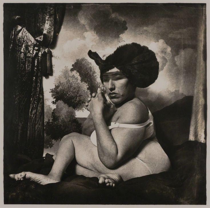 "Joel-Peter Witkin, '""Woman in the Blue Hat"" Dame portant un Chapeau Bleu', 1985"