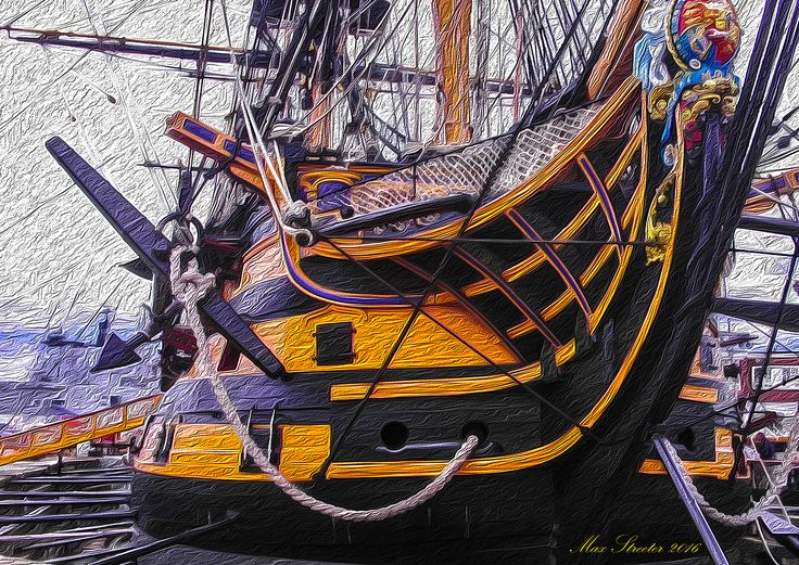 Age of Sail ~ Max Streeter ~ Digital Illustration ~ Artograph ~ HMS Victory