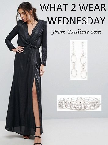 Trend: metallics. Style the look with these Sterling Silver Stud Earrings From Italy & Sterling Silver Ladies Bracelet from Italy.