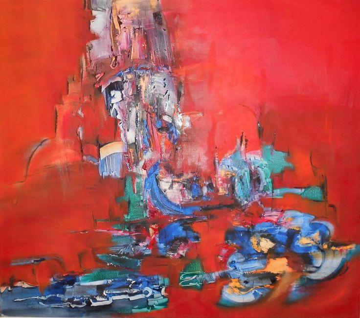 """La Corte de la Hermandad"" - Silvia Hilerowicz - Oleo sobre tela - 70 x 80 cm  www.esencialismo.com"
