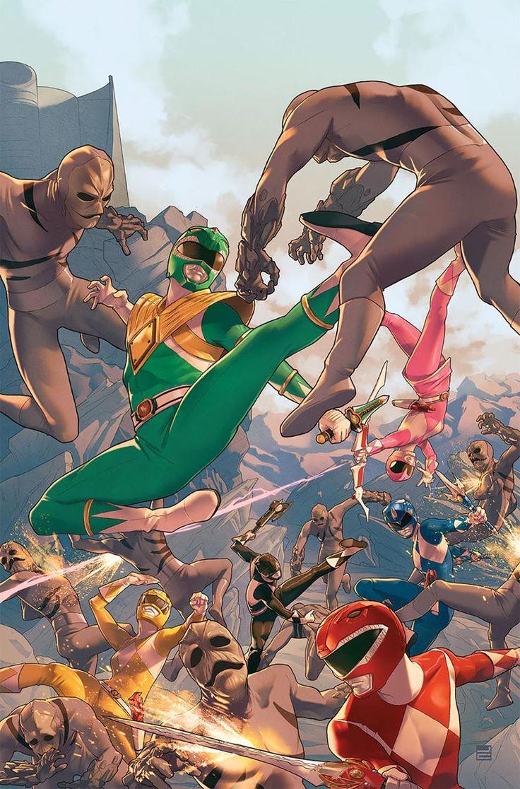 Así de poderosos se verán los Power Rangers en su nuevo cómic | Atomix