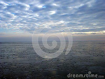 Lake Balaton in winter (Hungary)