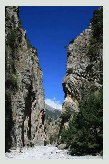 The Samaria Gorge or Farranga as the locals call it, is located 43 km south of Chania,in island of Crete