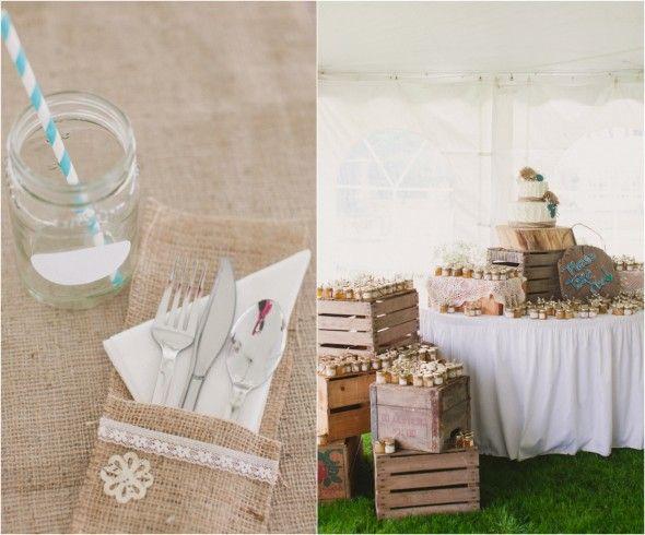 Burlap Wedding Table Decor