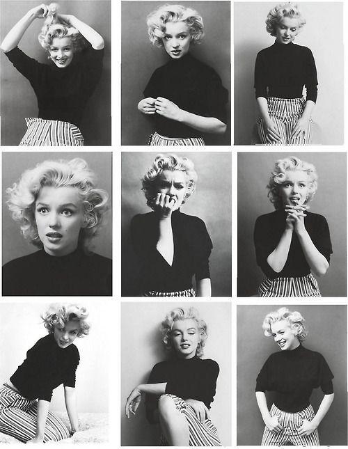 #Marylin #Monroe #Schönheit #Vintage # B & W; #Darstellerin