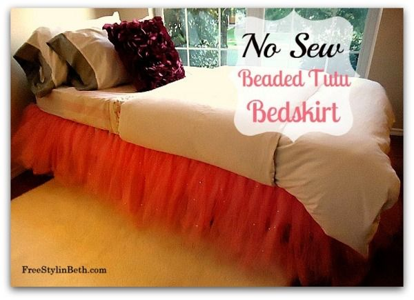 No Sew Beaded Tutu Bedskirt!!: No Sewing, Little Girls, Sewing Beads, Beds Skirts, Tutu Bedskirt, Cute Idea, Beads Tutu, Big Girls, Girls Rooms