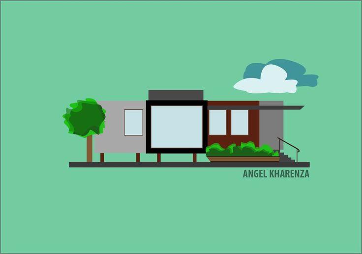 house illustration by Angel Kharenza