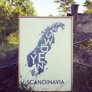 Scandinavia print by Kortkartellet, buy at nordliebe.com (photo credit kortkartellet)