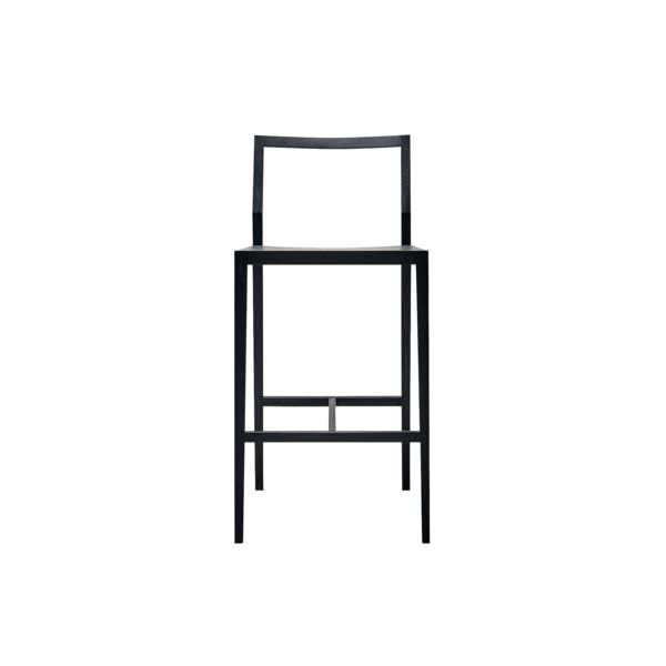 Stunning minimalistischer Barhocker GHOST in schwarz Ausstellungsst ck