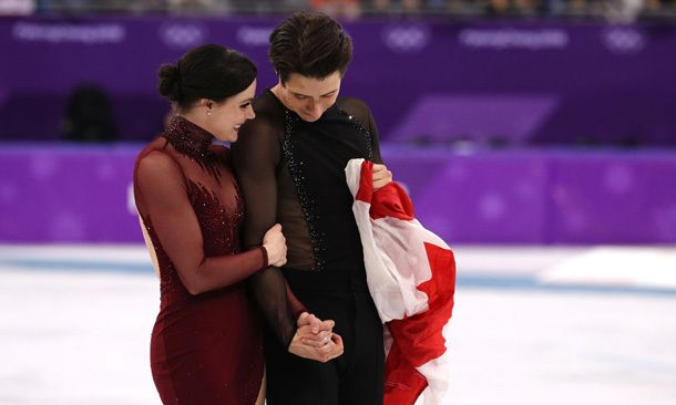 The private moment Tessa Virtue and Scott Moir shared after winning Olympic gold | Hello! Canada