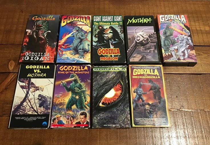 Godzilla Video Tape VHS Movie Lot Vintage Mothra Gigan Megalon Mechagodzilla | eBay