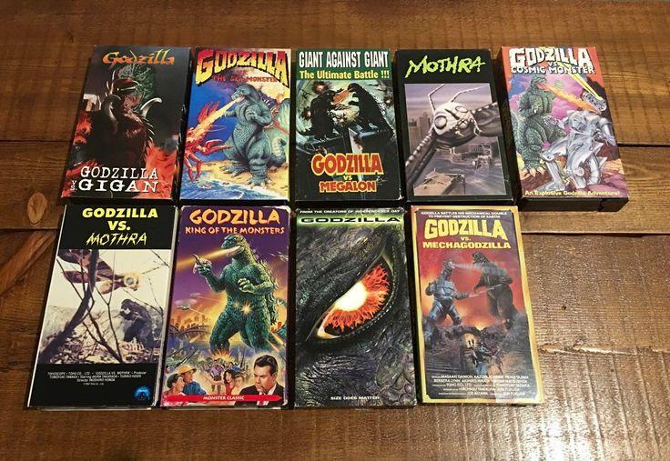 Godzilla Video Tape VHS Movie Lot Vintage Mothra Gigan Megalon Mechagodzilla | eBay