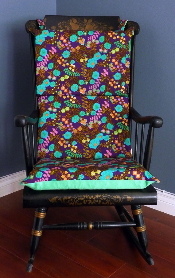 ON SALE Rocking Chair Cushion Vintage Floral By RockinCushions, $65.00