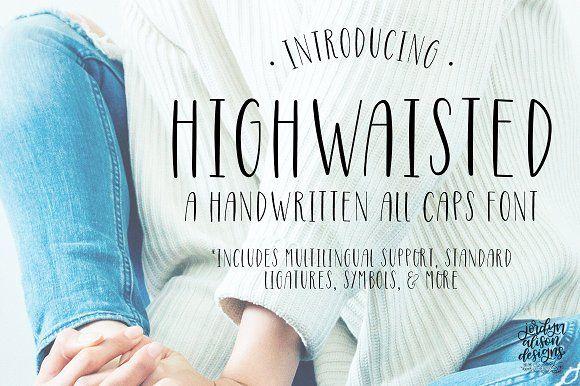 Highwaisted Skinny Caps Font  @creativework247