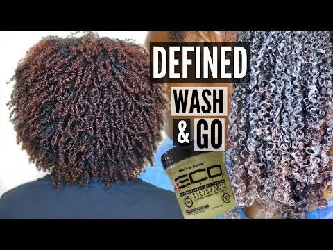 Wash and Go on THICK, KINKY NATURAL HAIR | using the Black Castor & Flaxseed Eco Styler Gel - YouTube