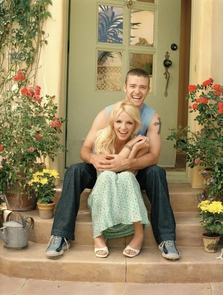 Britney Spears and Justin Timberlake - Britney Spears And Justin Timberlake By Howard Rosenberg Photoshoot 2001, For Hello Magazine