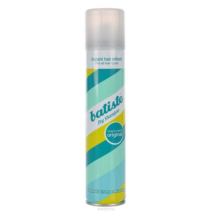 """Batiste Сухой шампунь для волос """"Original"""", с нежным классическим ароматом, 200 мл - 400р."""