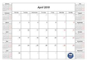 Best April  Calendar Images On   Monthly