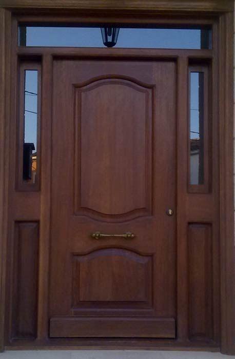 Las 25 mejores ideas sobre puertas principales de madera for Modelos de puertas principales
