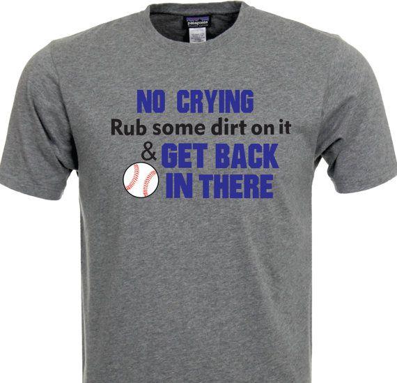 No Crying Baseball TShirt by TShirtNerds on Etsy, $15.95