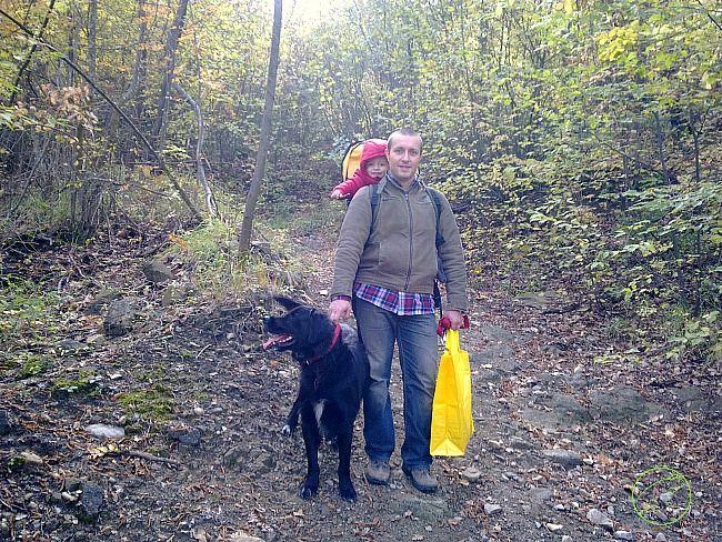 Raccogliere castagne nei boschi di varzi con bambini e cani