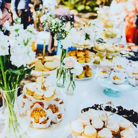 After noon tea at Mosman Park wedding ceremony by Little Vintage Hire Co.