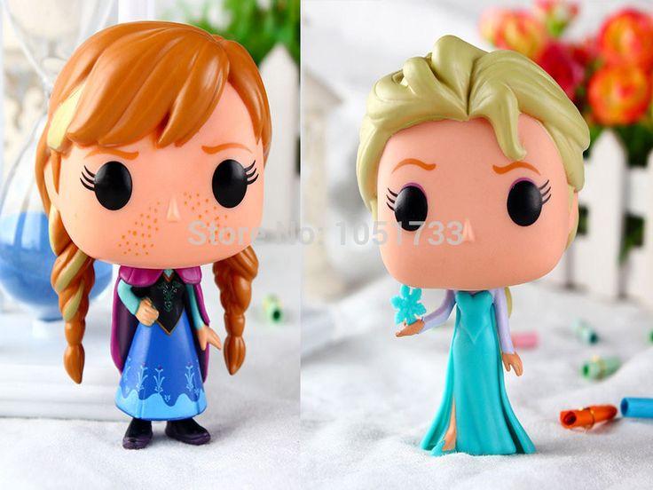 Бесплатная Доставка 4 10 см Funko ПОП-Королева Эльза Принцесса Анна ПВХ Фигурку Куклы Игрушки С Коробкой