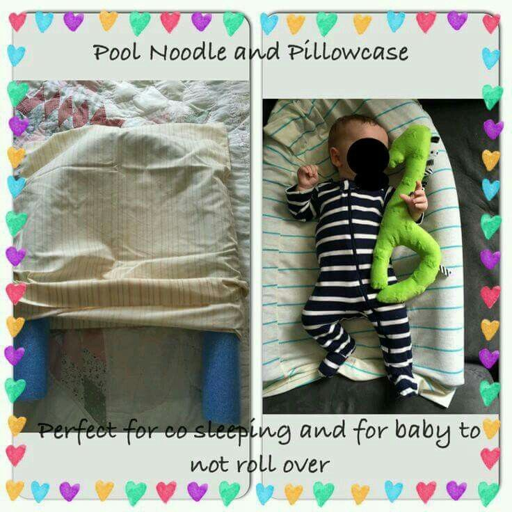 Pool Noodle Pillow Case Baby Baby Cribs Baby Life
