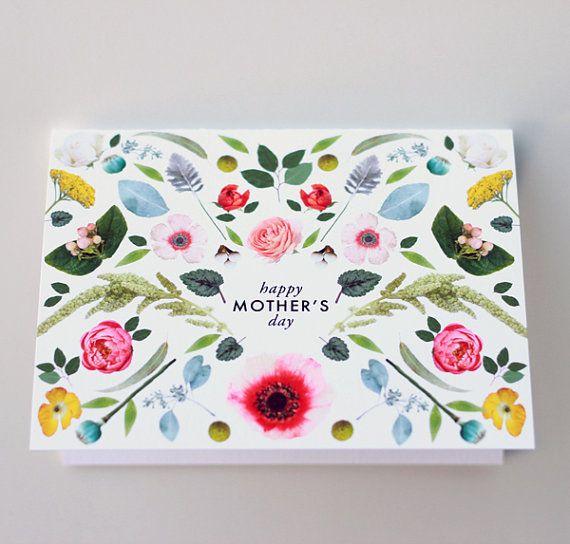 Mother's Day Scandinavian folk flowers card