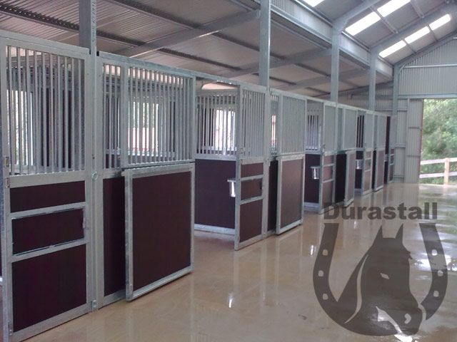 Inside Horse Barn equi ply bar durastall stable panels inside barn shed | barn