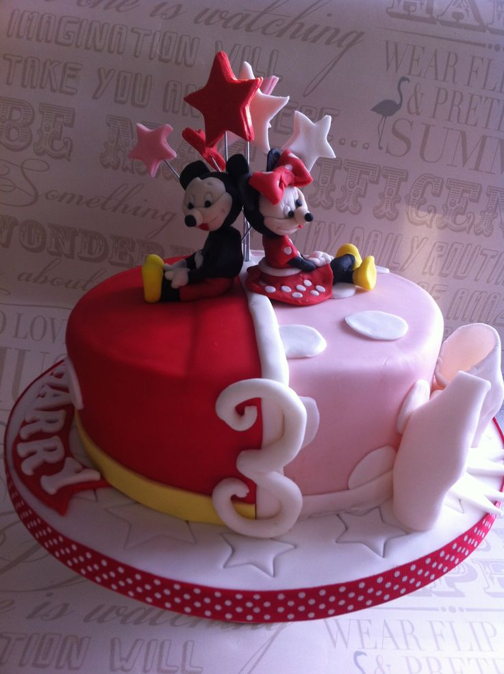 Cake Ideas For Boy Girl Twins : 9 best mickey and minnie cake for twins images on ...